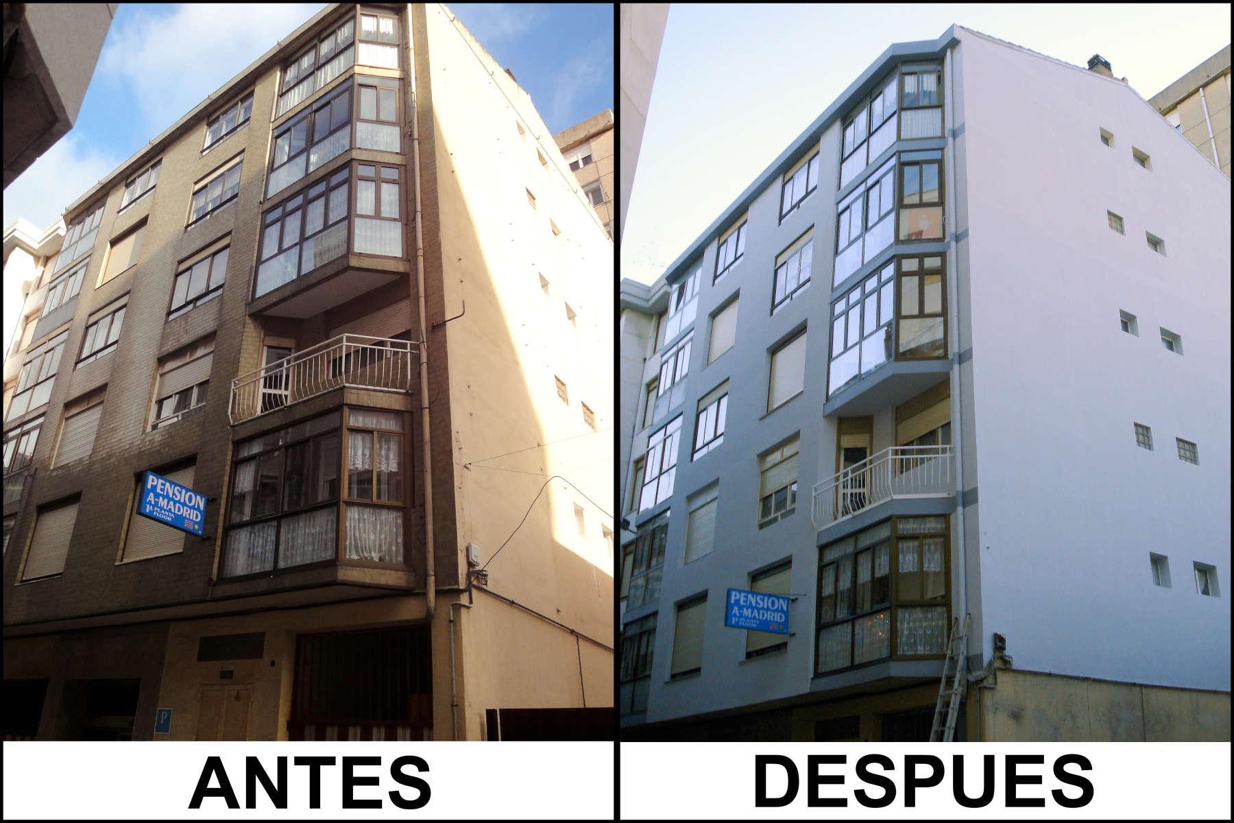 Rehabilitacion de fachadas en cantabria rehabilitacion de for Mi piso antes y despues