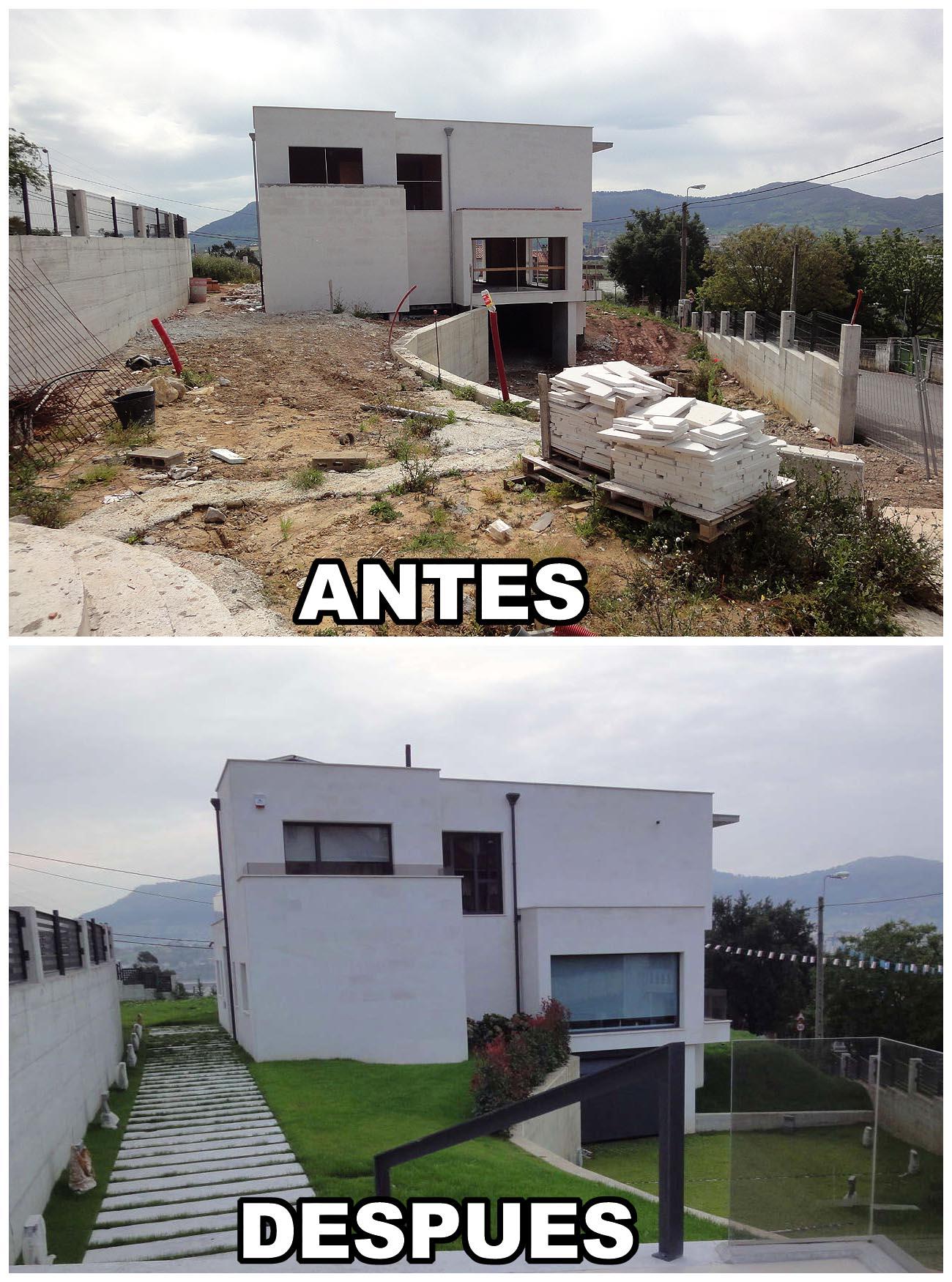 Construcci n casa moderna en santander cantabria a montoya e hijos s l - Casas reformadas antes y despues ...