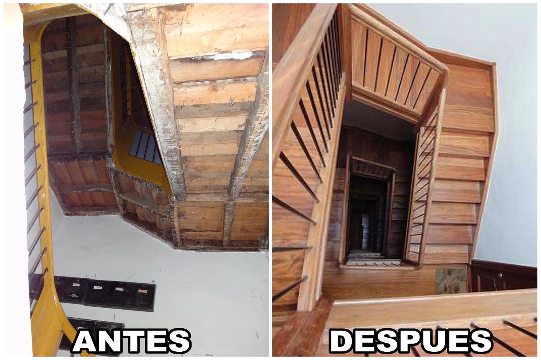 Reforma escalera Santander Cantabria - Construcciones Montoya