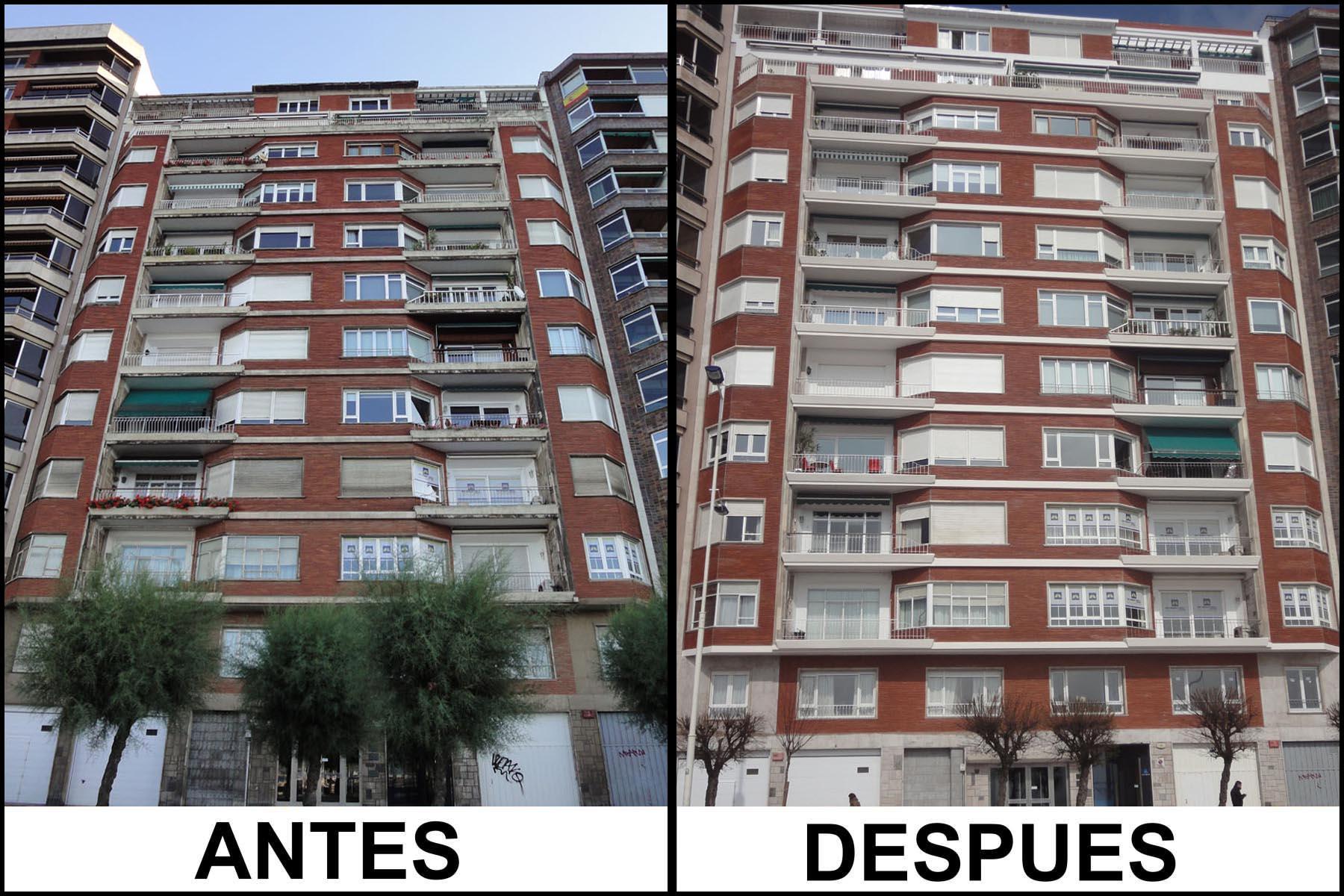 Rehabilitación de fachada - Construcciones Montoya e hijos